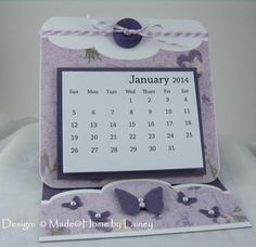 In addition to the card calendars I made, I also made this style, which is the same set-up as an easel card. I made several different desi...