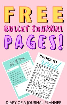 The 15+ totally free bullet journal printable pages that EVERYONE needs to have! #bulletjournalprintables #freeprintables Bullet Journal Bookshelf, Bullet Journal Dot Grid, Bullet Journal Hacks, Bullet Journal Printables, Journal Template, Best Daily Planner, Daily Planners, Journal Pages, Printable Planner