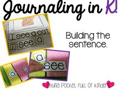 Pocket Full of Kinders! Ideas for a journal station to help your littles build their writing skills {Freebie}