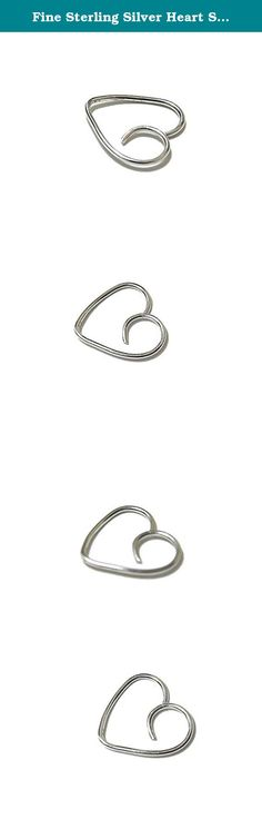 Fine Sterling Silver Heart Shaped Cartilage Hoop Earring Swirl Valentine Love Daith Helix Pinna Tragus Rook Snug 24G 22G 20G 19G 18G 16G. A single fine .999 sterling silver heart shaped hoop. NOTE: The difference between fine sterling silver (999 sterling silver) and regular sterling silver (925 sterling silver) is that the 999 is 99.9% pure silver while 925 is only 92.5% silver. Fine sterling silver is 100% hypoallergenic and nickel free. Each heart is forged by hand and both the ends…