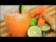 Jamaican Natural Carrot Juice With Ginger And Lime 2015 Recipes - YouTube