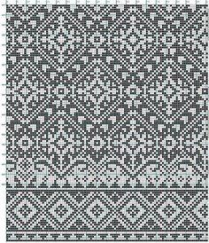 Nice Stitch design for my electronic knitting machine Fair Isle Knitting Patterns, Fair Isle Pattern, Knitting Charts, Knitting Stitches, Knitting Designs, Knit Patterns, Stitch Patterns, Floral Patterns, Filet Crochet