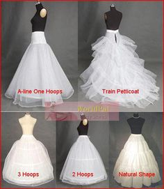 BRIDAL WEDDING GOWN PETTICOAT SKIRT SLIP CRINOLINE PETTICOAT SLIP (5 kinds petticoat can choose)