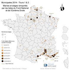 Municipales 2014 : mairies et sièges remportés par le FN et l'extrême droite