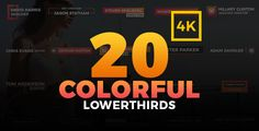 20 Colorful Lowerthirds