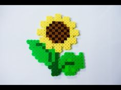 Perler Beads Designs: Sunflower
