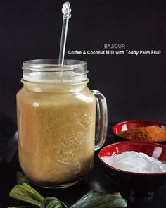 , Coconut Milk, Coconut Sugar, pandan leaves, and toddy palm fruit ...