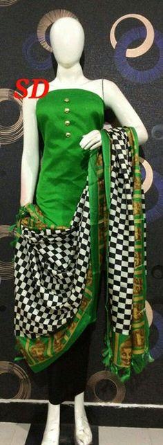 Silk Salwar Kameez Silk top Shantoon botton Silk dupatta Rs1150$ For more details ping us on sbtrendz@gmail.com or Whatsapp 91 9495188412; Visit us on http://ift.tt/1pWe0HD or http://ift.tt/1NbeyrT to see more ethnic collections. #Gown #Kurti  #SalwarSuit #Lehenga #Saree #ChiffonSaree #salwarkameez #GeorgetteSuit #designergown #CottonSuit #AnarkalaiSuit #BollywoodReplica #SilkSaree #designersarees #DressMaterials #Churidar  #HandloomSaree #KasavuSaree #PureCottonSaree #cottonsaree…