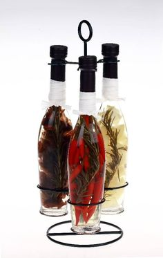 "15"" Decorative Vinegar Bottle Set of 3"