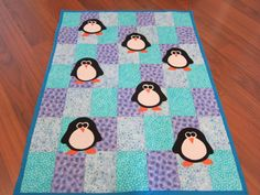 Baby penguin blanket!! Penguin Baby, Penguin Birthday, Penguin Love, Baby Penguins, Baby Patchwork Quilt, Baby Quilts, Baby Makes, Hazel Grace, Everything Baby