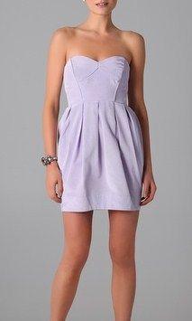 Shoshanna Jane Strapless Dress In Lavender #Girly