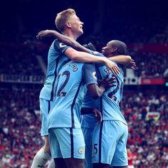 Celebrating a goal against Utd.