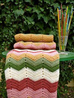 Granny Chevron Blanket, via Flickr.