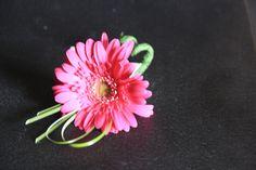 pink gerbera daisy boutonniere