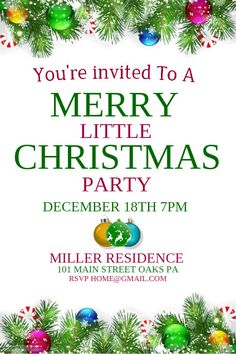Diy Christmas Dinner Event Flyer Template  Christmas Poster