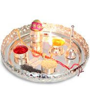 Traditional Pooja Thali and rakhi to Delhi