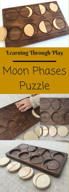 My son was asking about the moon and my it looks different every night, this would be perfect to help explain it! #montessori #ad #kids