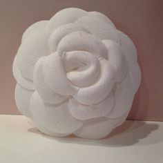 CHANEL CAMELLIA! :) Gorgeous White Fabric Flower Turn into a Pin/Brooch! :) NEW! #CHANEL