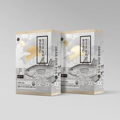 Fish packaging and design - pesce Organic Packaging, Japanese Packaging, Tea Packaging, Food Packaging Design, Packaging Design Inspiration, Brand Packaging, Branding Design, Label Design, Box Design