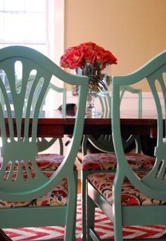 Fun color for chairs!