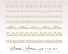 Check out Vintage Lace Borders by Summit Avenue on Creative Market