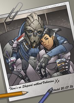 Garrus Vakarian Mass Effect beat me to posting this one this morning ...