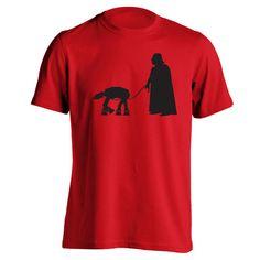 Darth Vader Walking At-At.  Avail in Mens T-shirts, Womens T-shirts, Tank Tops, & Sweatshirts. Get it Today @ DonkeyTees.com w/ FREE SHIPPING using code: PINNING at checkout.