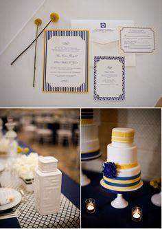 blue & yellow wedding