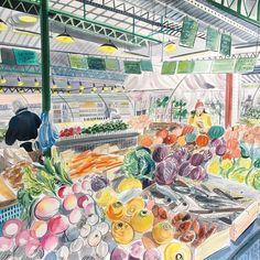 166 vind-ik-leuks, 4 reacties - Emily Sutton (@emsutton1983) op Instagram: 'Fruits et legumes, Paris'