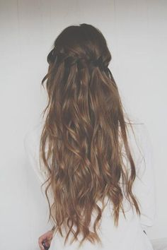 beautiful waterfall braid.