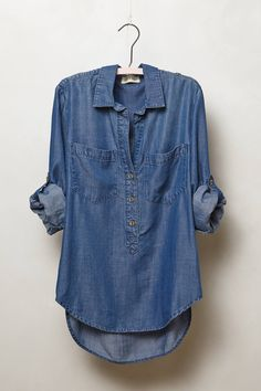 Chambray Popover - anthropologie.com  Recommended by Big Mama Blog...cute and versatile for all seasons.