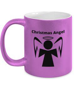 Christmas Angel metallic mug Gift Mugs, Gifts In A Mug, Christmas Angels, Xmas, Novelty Gifts, Metallic, Tableware, Prints, Design
