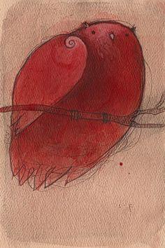 Red Owl by SethFitts.deviantart.com on @deviantART