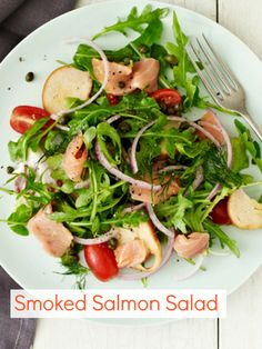 Smoked Salmon Salad - if you sub the bagel chips for matzo pieces you can eat it on Passover.