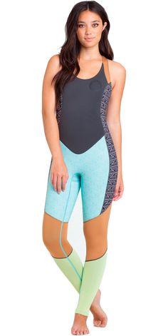 261426e2644d7 2015 Billabong Ladies Salty Jane 2mm Flatlock Long John Wetsuit Black/White  S42G05 Wakeboarding,