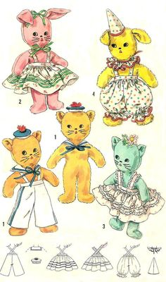 vintage stuffed toy pattern