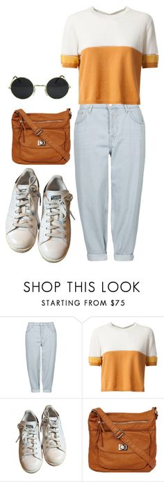"""Groovy"" by hey-im-macie ❤ liked on Polyvore featuring Topshop, Fendi, adidas, vintage, indie and retro"