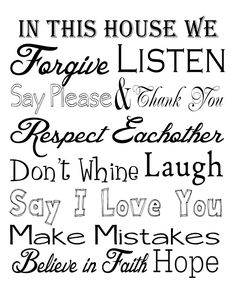 House Rules Free Printable | Get Outta My head Please