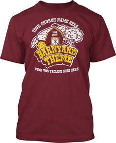 Barnyard Roundup VBS 2016 Two Color T-Shirt Design #16608