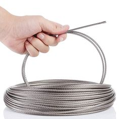 Blika 200 Feet 1 8 Inch Stainless Aircraft Steel Wire Rope Cable For Railing Decking Diy Balustrade 7x7 Construction T316 M Cable Railing Railing Stainless