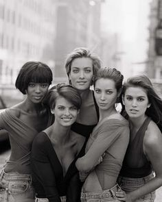 Supers - Bring Back The 90's - Naomi Campbell, Linda Evangelista, Christy Turlington, Tatjana Patitz and Cindy Crawford