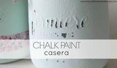 Decora tus muebles y accesorios con pintura chalk paint preparada por ti. ¡Apunta la receta!