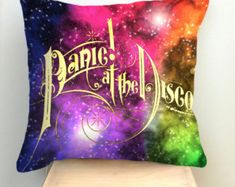 Panic At The Disco Logo Galaxy Nebula Pillow Case by UnyuStyle - Decorative Bedding Pillow Case