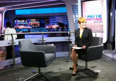 Behind the scenes during rehearsal for The Pattie Lovett-Reid Show.
