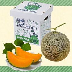 What's better than a cantaloupe? A cantaloupe with Hello Kitty's face branded into the side, of course. 300 of these rare cat fruits are slowly ripening in Hokkaido, Japan, in advance of their July harvest date. The Hello Kitty melons are created by carving the image on the surface of the fruit one month before harvest. During the final weeks of growth, the hollow grooves take on the same color and appearance as the fruit's natural netting, creating a seamless, organic-looking image.