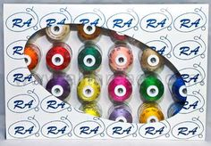 Robison-Anton Rayon 24-Spool Assortment Embroidery Thead Package - All Threads