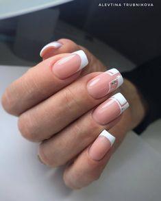 Installation of acrylic or gel nails - My Nails Geometric Nail Art, Glow Nails, Rose Gold Nails, Neutral Nails, Stylish Nails, Perfect Nails, French Nails, Nail Manicure, Pretty Nails