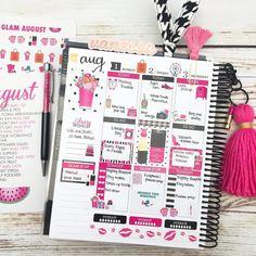 "1,221 Likes, 28 Comments - Vanessa Dugan ♠️ (@hautepinkfluff) on Instagram: ""Planner pages for next week using the August kit from @paperandglam  I was literally counting…"""