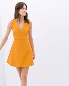 ZARA - WOMAN - FLARED DRESS WITH BOW AT BACK