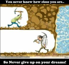 Do successful, amazing businesses and dream lives fall into people's laps? No, they keep going until they reach their dreams. Never quit. Never give up. You Never Know, Never Give Up, Let It Be, Minecraft Logic, Minecraft Stuff, Minecraft Ideas, Minecraft Quotes, Minecraft Redstone, Mental Training